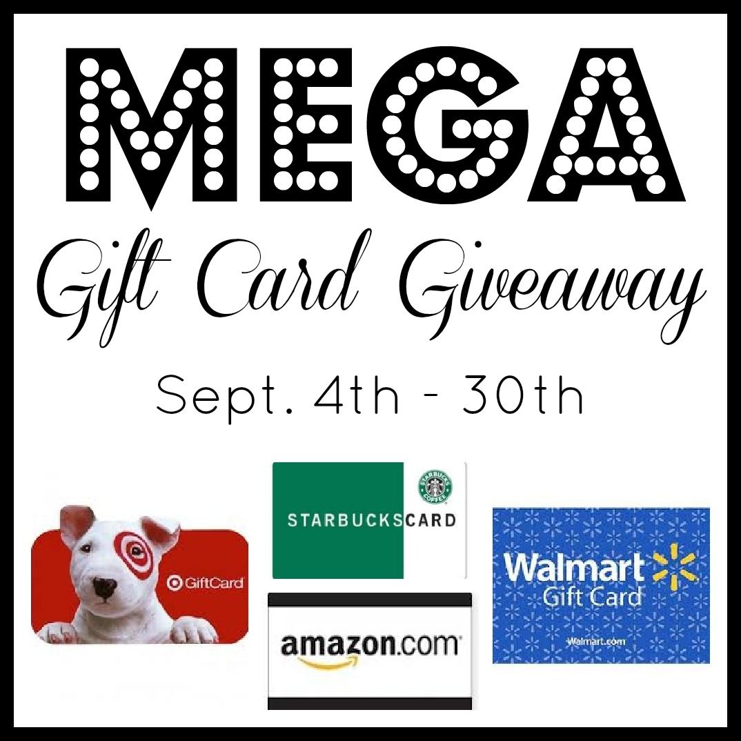 Mega gift card giveaway be one of the three winners gift