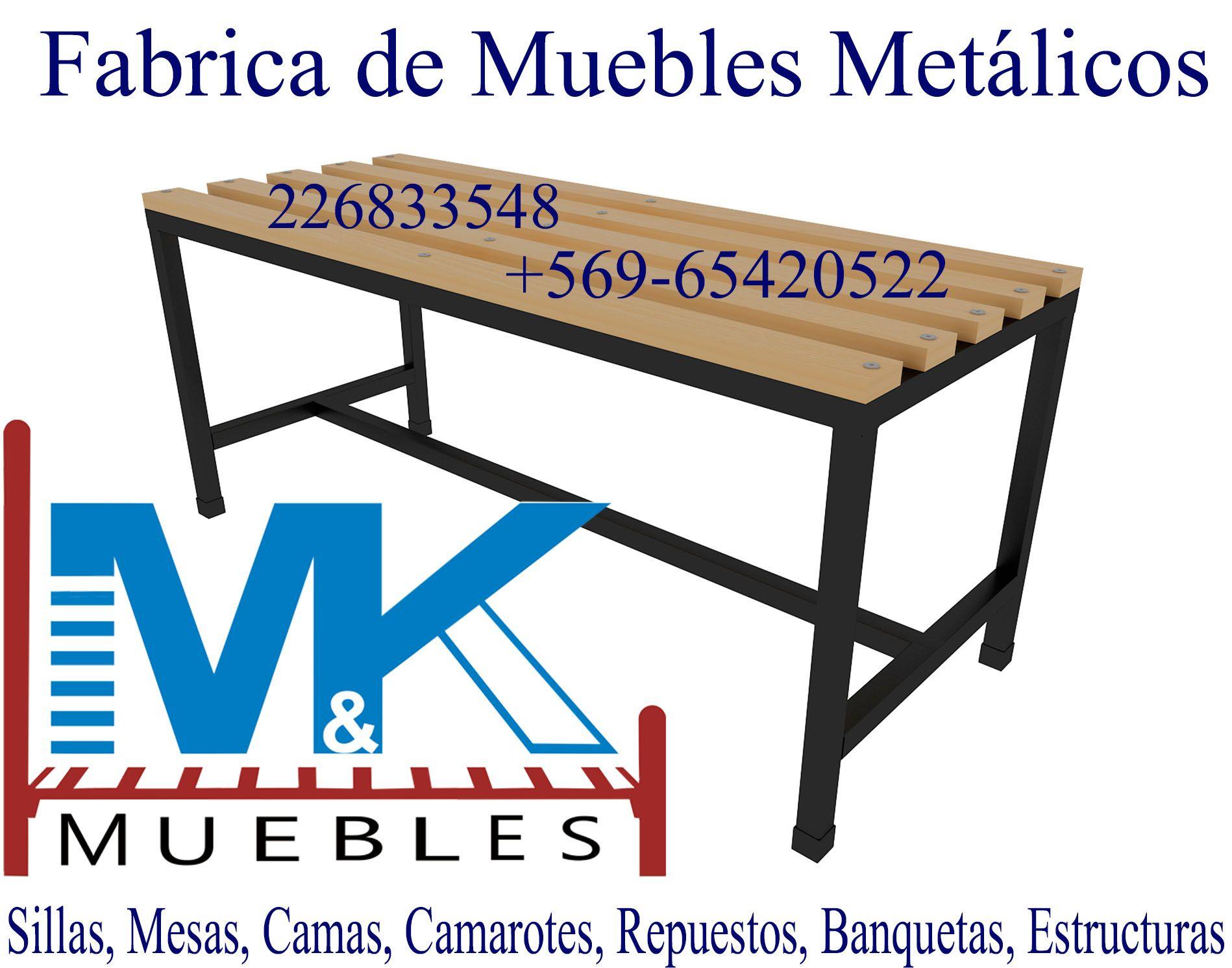 SILLAS MESAS CAMAS CAMAROTES | SILLAS METALICAS - FABRICA DE MUEBLES ...