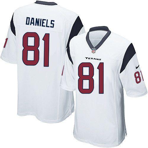Hot New Men's White Nike Limited Houston Texans #81 Owen Daniels NFL Je