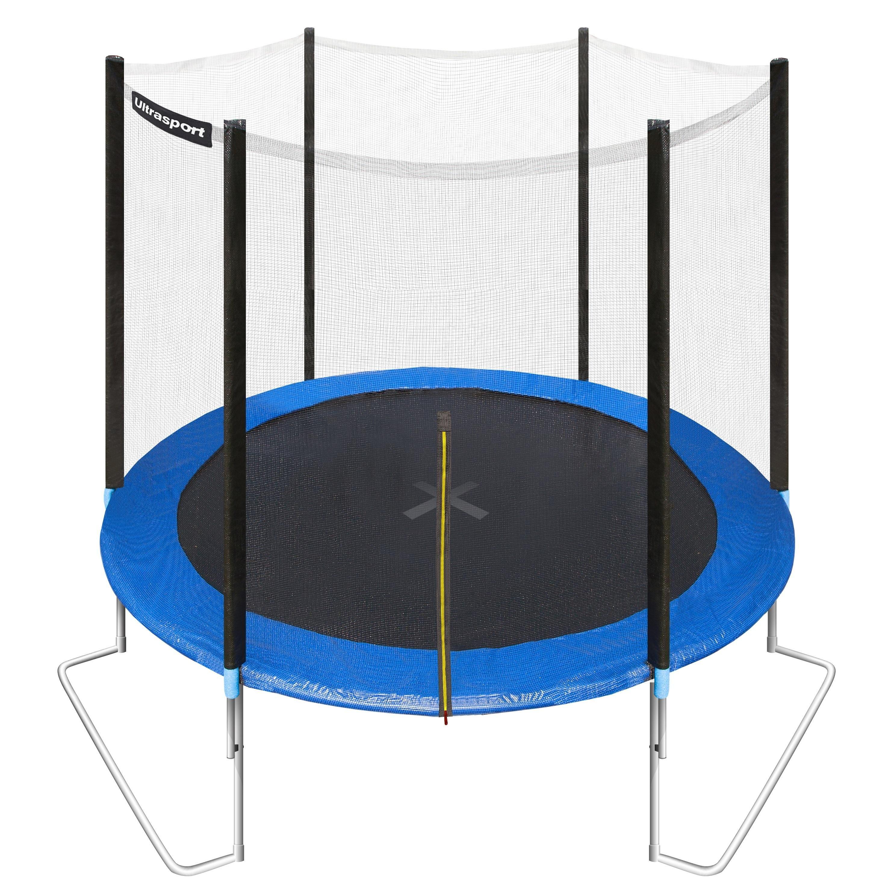 Ultrasport Gartentrampolin Jumper 251 Cm Inkl Sicherheitsnetz Sport Freizeit Spass Fur Die Kleinen Wie Auch Die Gr Gartentrampolin Trampolin Sicherheitsnetz