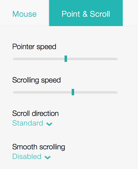Logitech Options with 'Standard' scroll direction   OSX