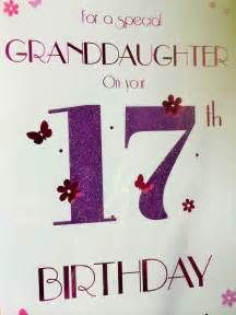 Happy 17th Birthday To My Granddaughter