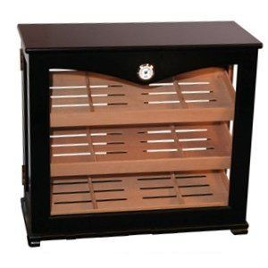 Huge Glass Dispaly Cabinet Humidor 150 Capacity Cigars By Qi 265 99 Premium Spanish Cedar Shelves Slo Point Of Sale Display Countertop Display Cigar Humidor
