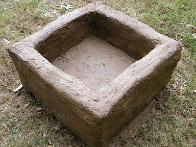 Modern Christian Housewife Reclaimed Brick and Cob Fire Pit