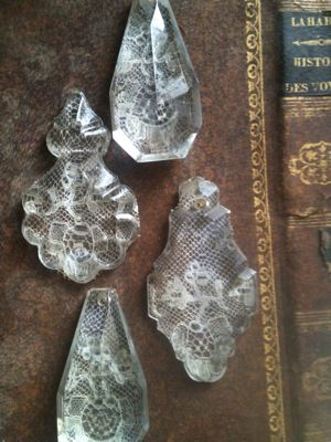 Crystals I Love Crystalslots Of Pretty Craft Ideas Using These - Chandelier crystals crafts