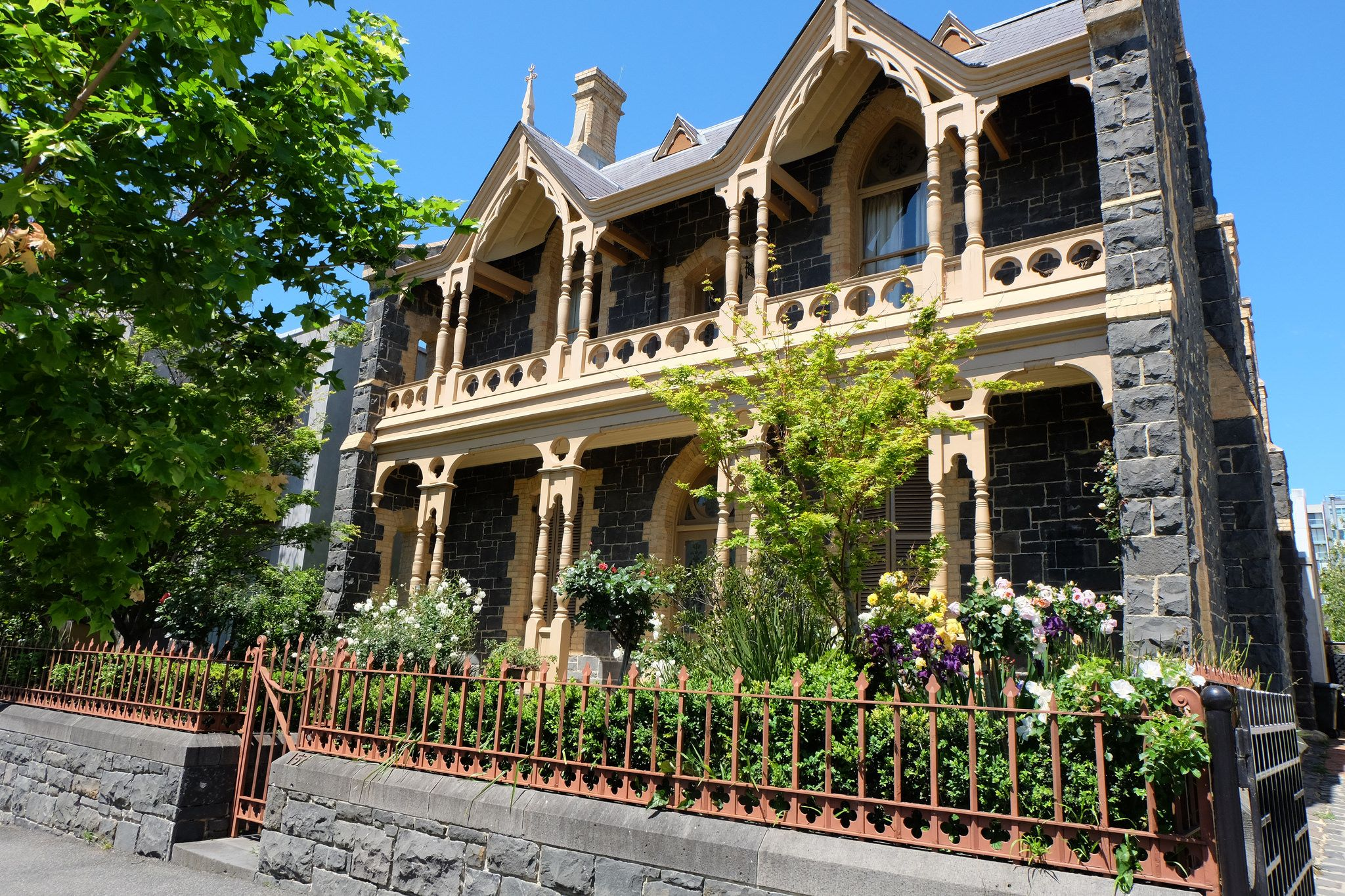 Beautiful Gothic Revival Blue Stone House 57 Hotham Street EAST MELBOURNE Built In The