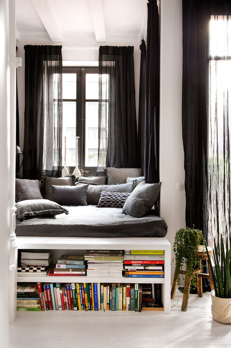 bohemian industrial style apartment in barcelona by marta castellano 6 home i wohnen. Black Bedroom Furniture Sets. Home Design Ideas