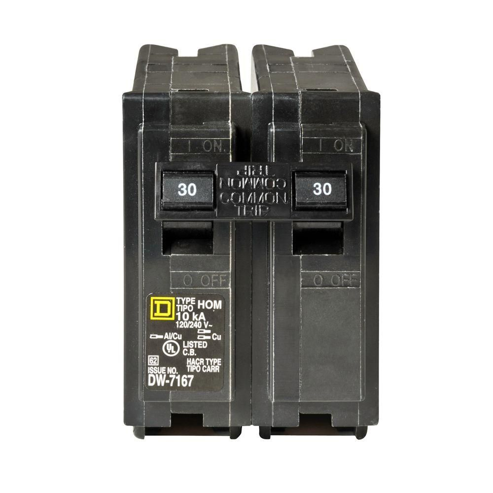 hight resolution of square d homeline 30 amp 2 pole circuit breaker hom230cp the home depot