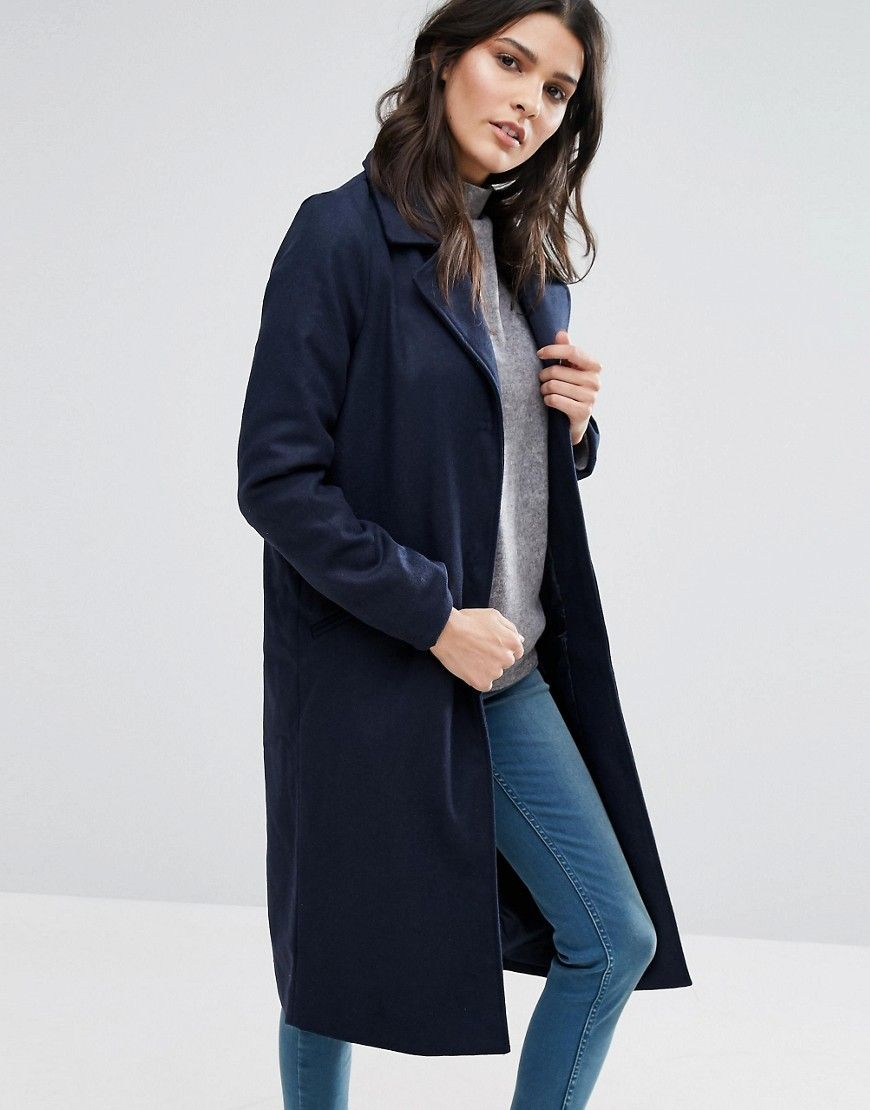Manteau Long Bleu Marine | look manteau long | Manteau femme