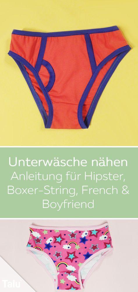 Unterwäsche nähen – Anleitung und Schnittmuster für Damen-Unterhosen ...