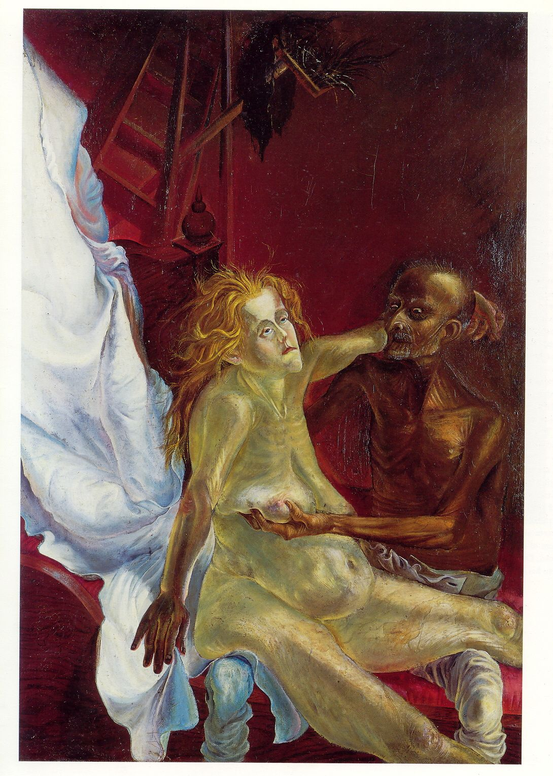 Otto Dix : 'Altes Liebespaar' (1923)  (Old Couple)