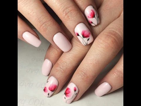 Simple Nail Designs Airy Light And Very Delicate Flowers