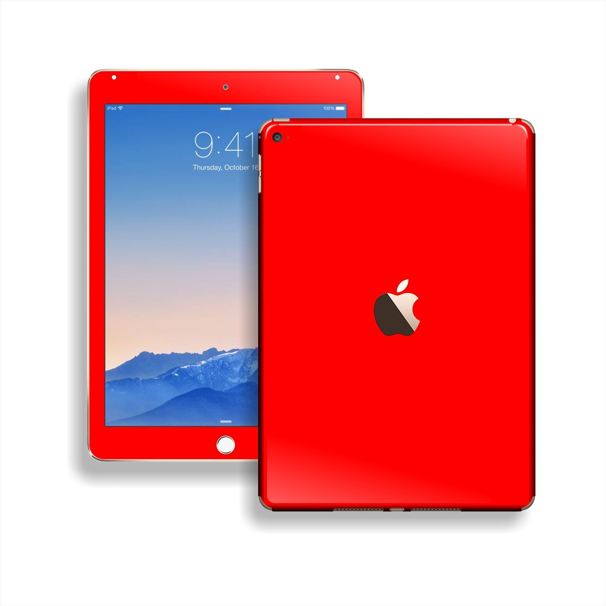 iPad Air 2 Glossy Skin - Bright RED