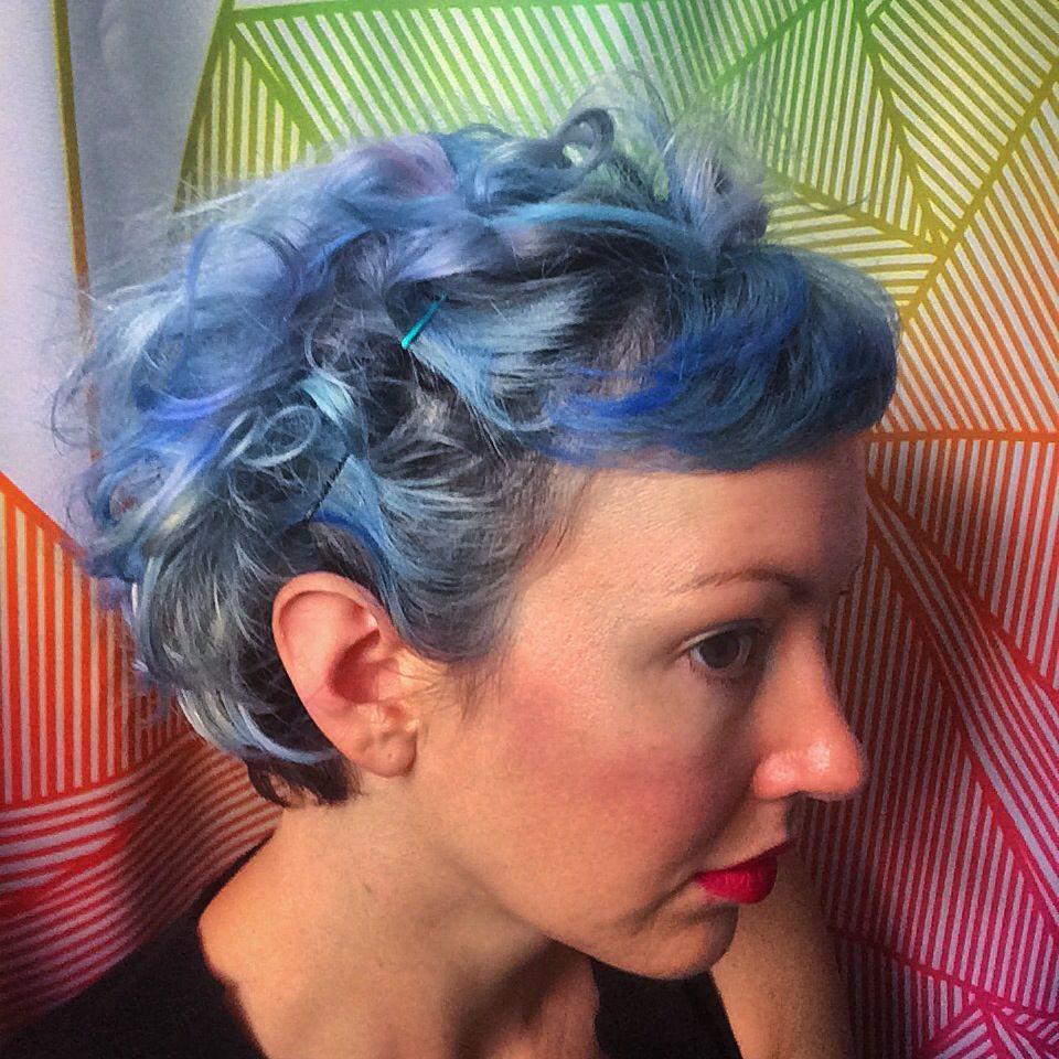 Rag curls blue hair ud mermaid x hallelujah itus hair