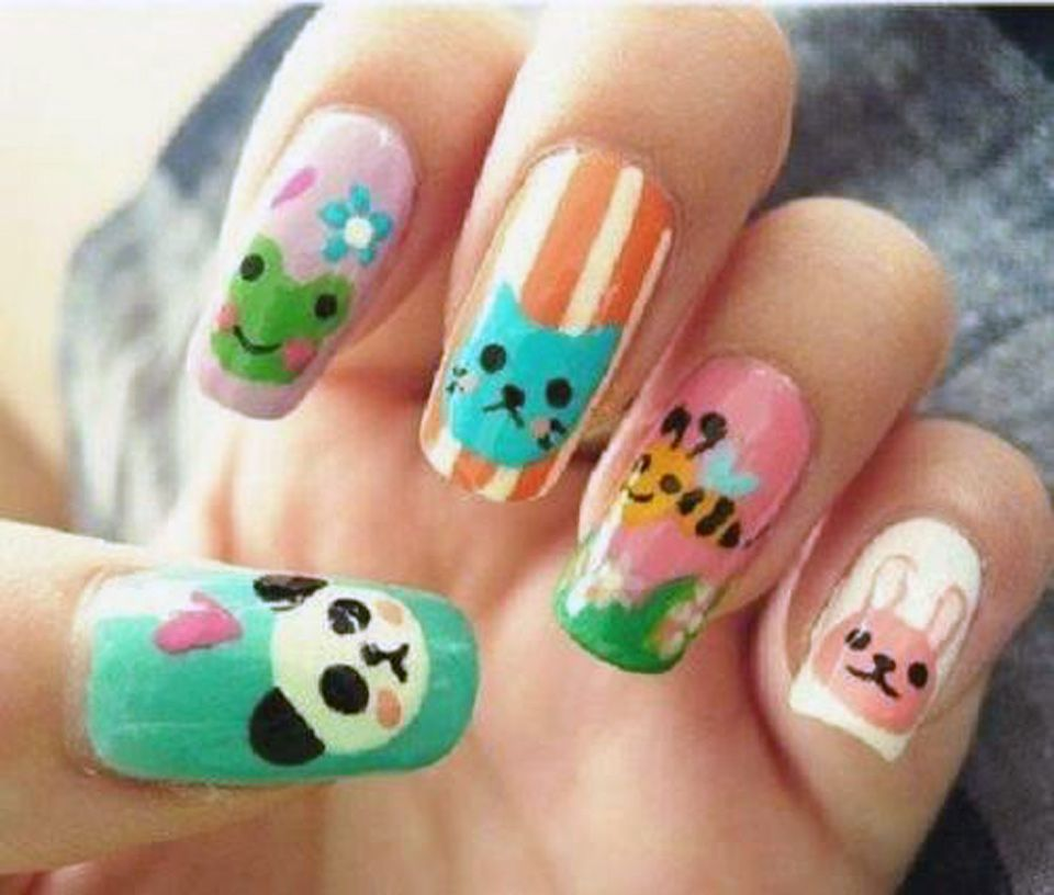 awesome easy animal nail designs step by step Cute Animal Nail ...