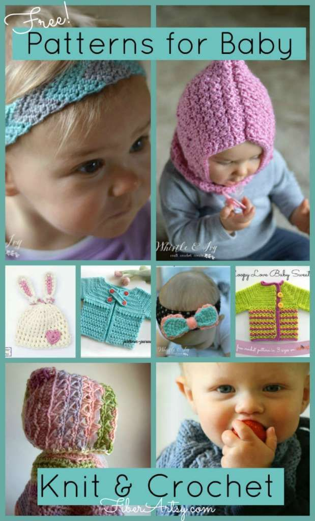 Free Knit and Crochet Patterns for Baby   Free knitting, Free ...