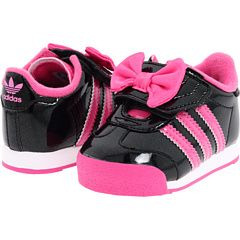 i'm not ever a fan of my kids wearing character (themed) clothes & shoes but these minnie mouse adidas are ADORABLE!!!!!