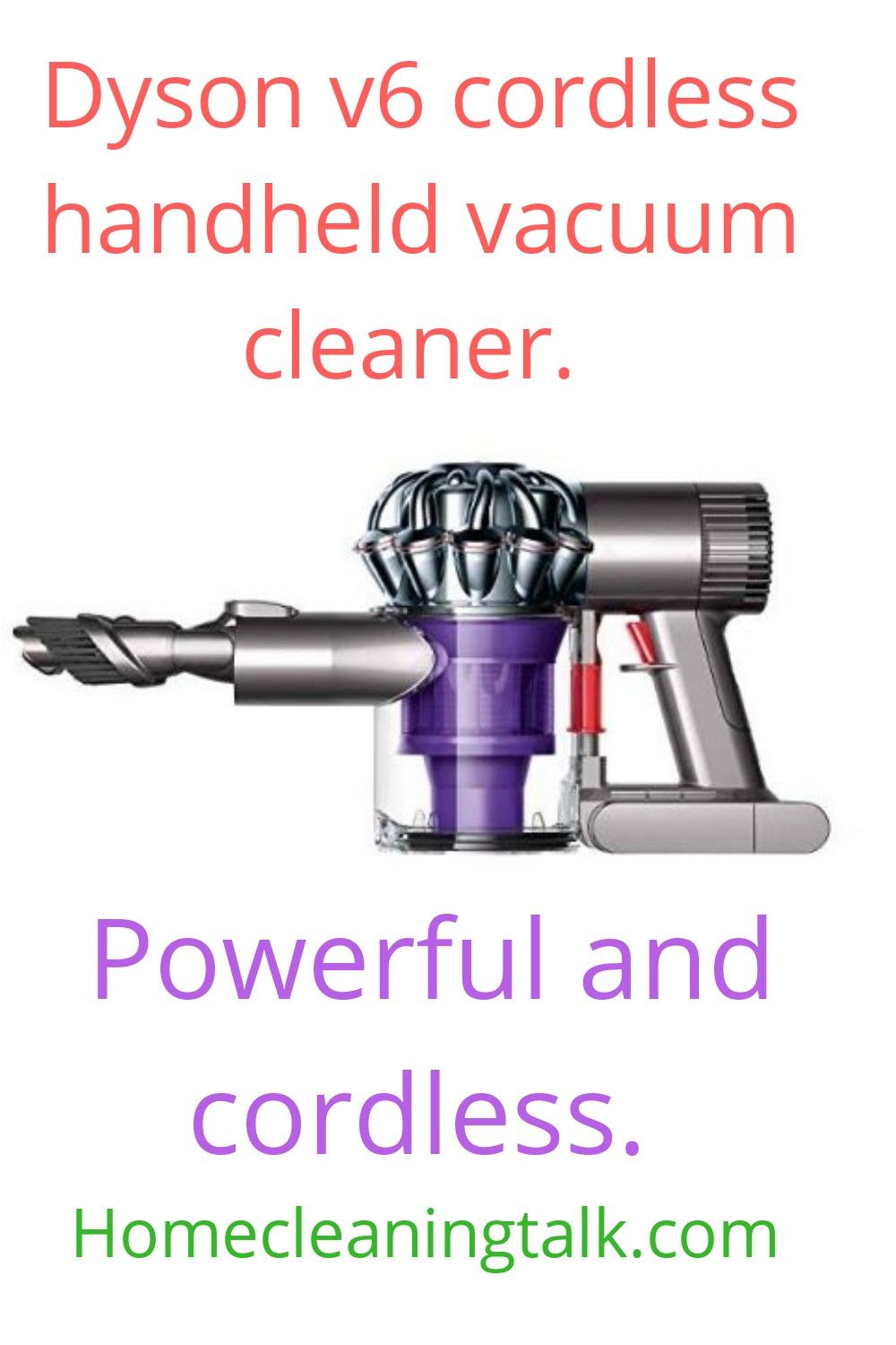 Dyson v6 cordless handheld vacuum cleaner. in 2020