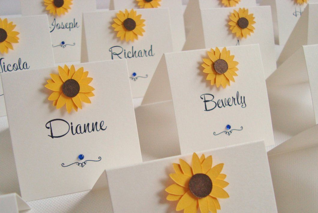 Cheap Sunflower Wedding Invitations: 30 Beautiful Sunflower Wedding Ideas