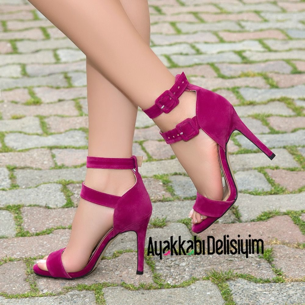 Fusya Pembe Topuklu Ayakkabi Heels Pink Topuklular Yuksek Topuklar Topuklu Ayakkabilar