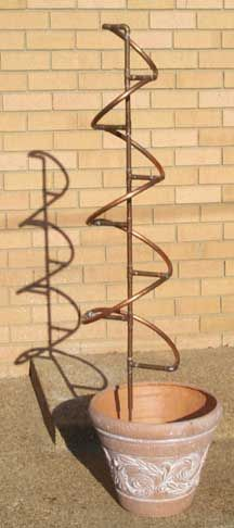 Copper Spiral Trellis Embly Vertical Vegetable Gardens