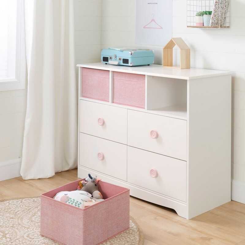 Sweet Piggy 4 Drawer Dresser With Cubbies 4 Drawer Dresser Dresser Drawers Drawers
