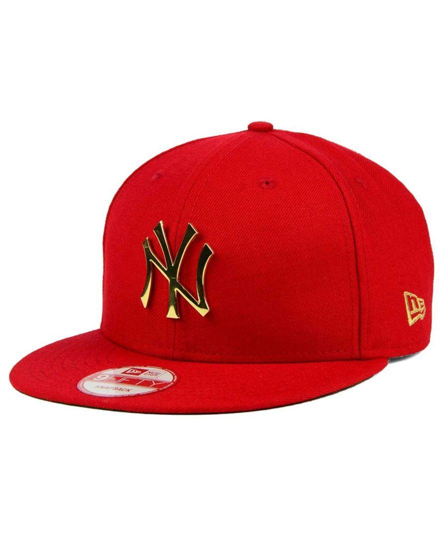 New Era New York Yankees League O Gold 9fifty Snapback Cap Hats For Men Mens Hats Baseball Snapback Hats