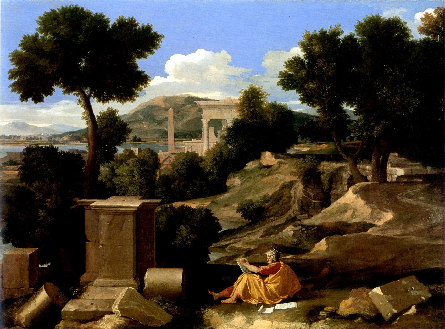 Nicolas Poussin. Landscape With St. John Patmos. 1640. Oil Canvas. Art Institute Of