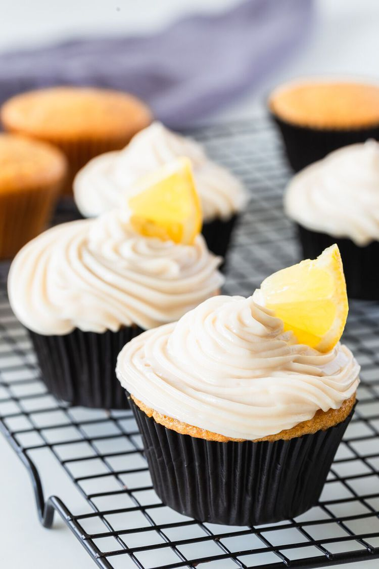 These Dairy Free Vegan Lemon Cupcakes Are Tangy And Moist
