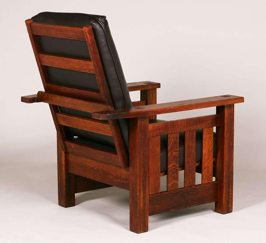 3733 Fantastic Lifetime Furniture Co Heavy Slatted Morris Chair C1910 Signed Excellent Original Finish 43 H X 32 5 W X 36 D Morris Chair Furniture Chair
