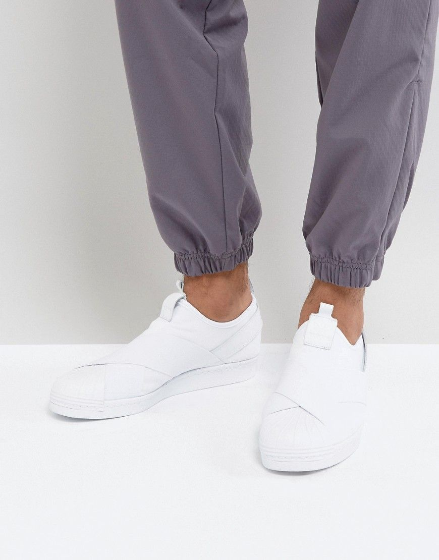 8e71c894ba19 ADIDAS ORIGINALS SUPERSTAR SLIP-ON SNEAKERS IN WHITE BZ0111 - WHITE.   adidasoriginals  shoes