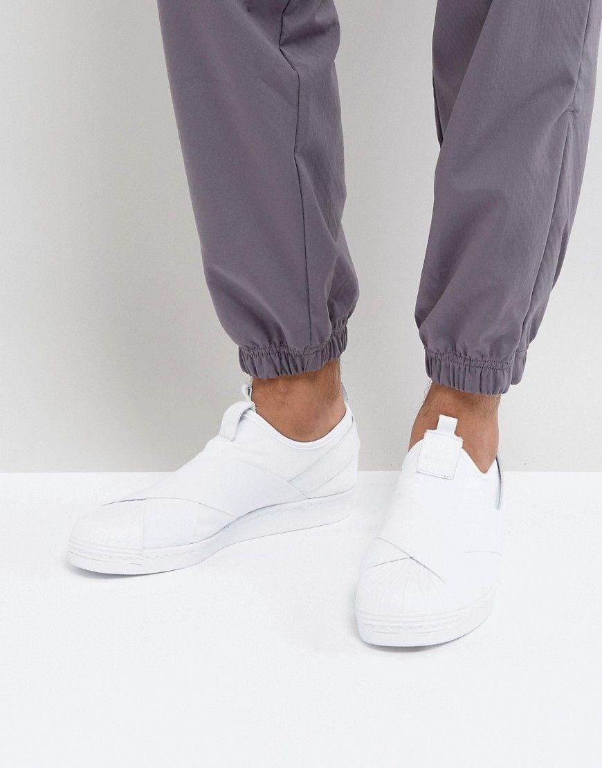 Superstar Slip en zapatillas en blanco bz0111 blanco de adidas