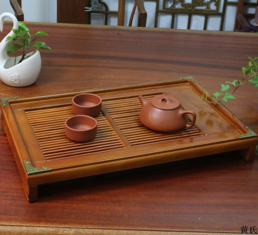 43 5 28 6 Water Storage Tray Edge Of Oak Wood Wooden Tea