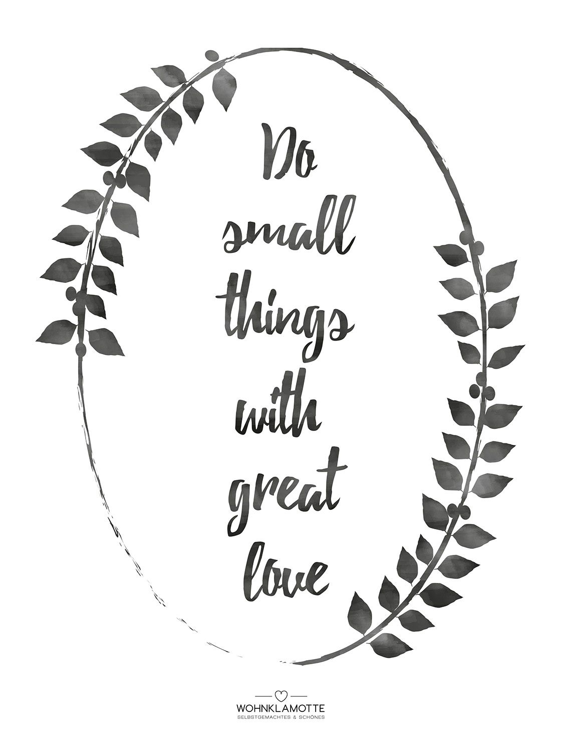 illustration von Statement do small things with great love