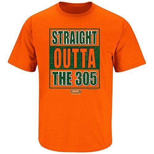 1bdbc2583 Miami Hurricanes Fans. Straight Outta The 305. T-Shirt   Miami ...