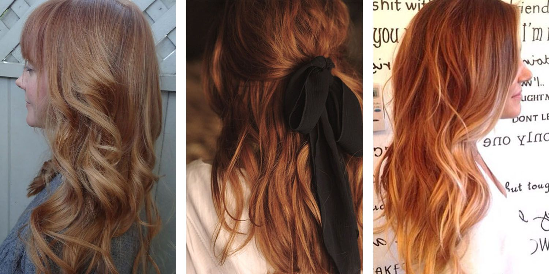 Far Left Light Auburn Light Auburn Hair Color Is A Blend Of Light Golden Red And Light Brown It S Red Hair Color Red Hair Color Shades Hair Color Shades