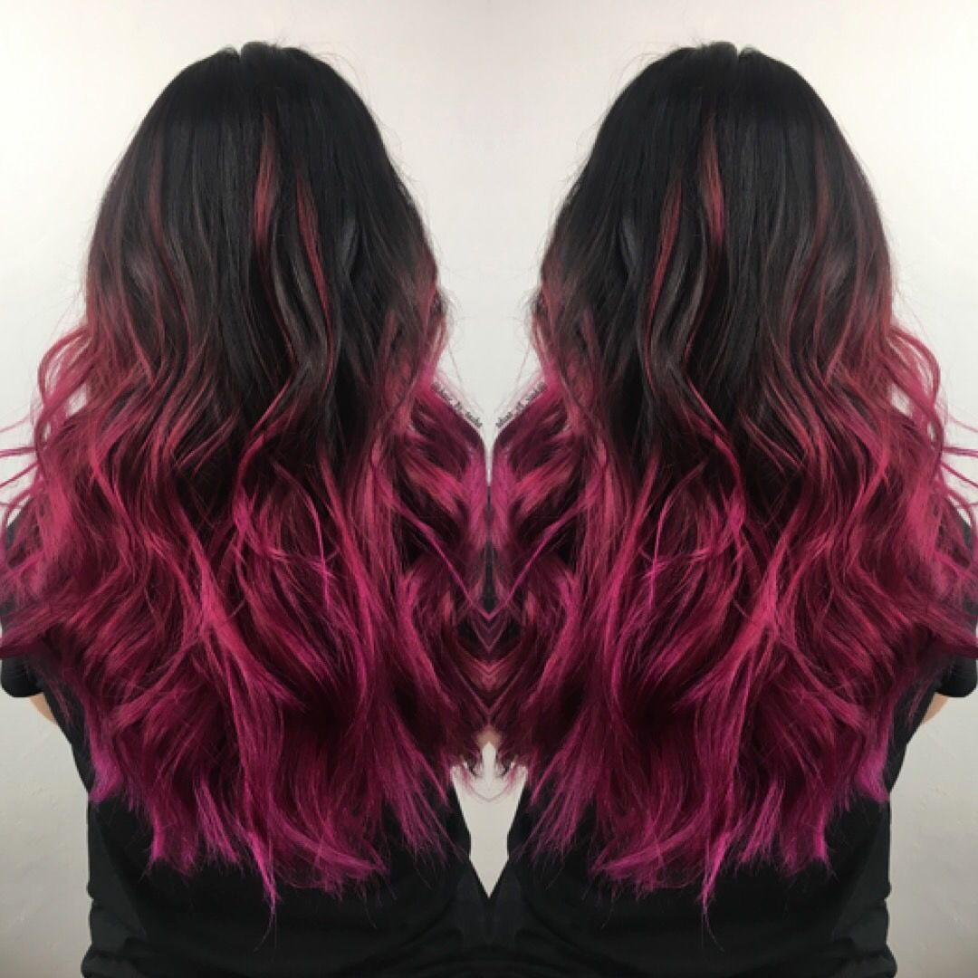 mermaid hair brunette color