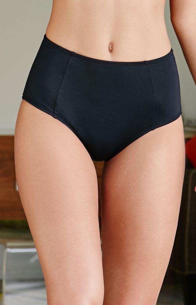 LA Hearts Solid High Waisted Bikini Bottom Black High Waisted Bikini 1d47de41c163