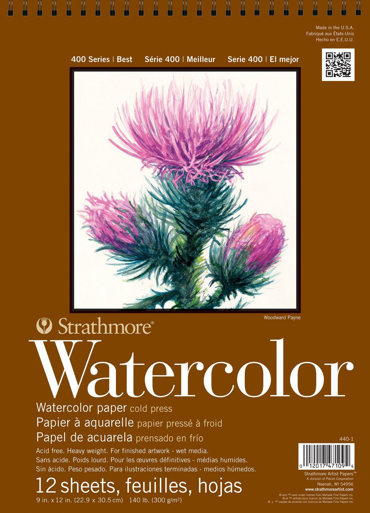 Strathmore 400 Series 12 Sheets 9 X12 Watercolor Pad