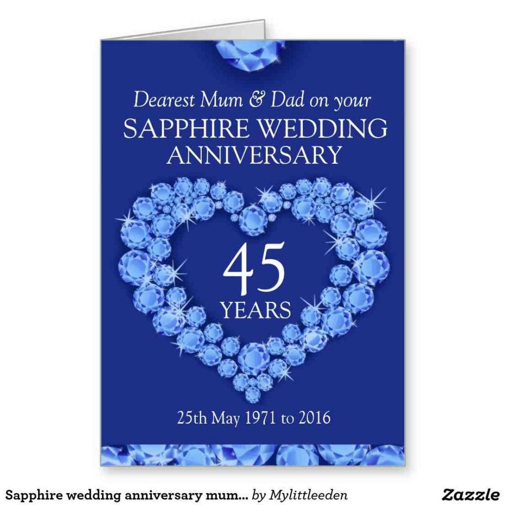 45th Wedding Anniversary Gift Ideas For Parents