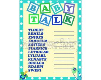 Rubber Duck Baby Shower Game Baby Word By BabyShowerBakery On Etsy