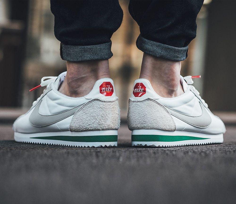 Nike Classic Cortez Nylon Ivory Pale Grey Pine Green