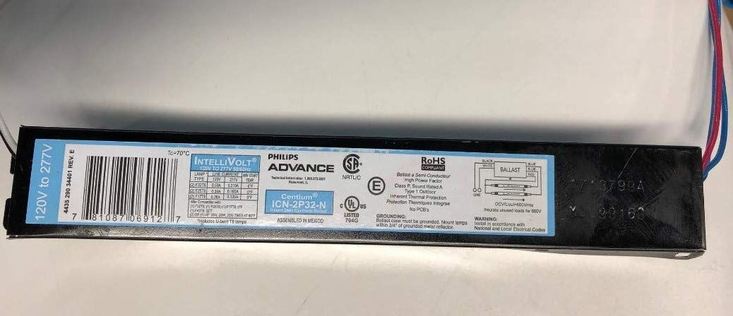 10 Pack Advance Icn2p32n F32t8 1 2 Lamps 120 277 Volt Normal Light Output Low Profile Ballast Ad Lamps Ad Icn2p Ballast Disney Pixar Cars Lamp