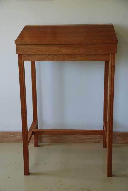 Custom stand up writing desk in cherry, maple, or walnut, handmade by Hawk - Custom Stand Up Writing Desk In Cherry, Maple, Or Walnut, Handmade