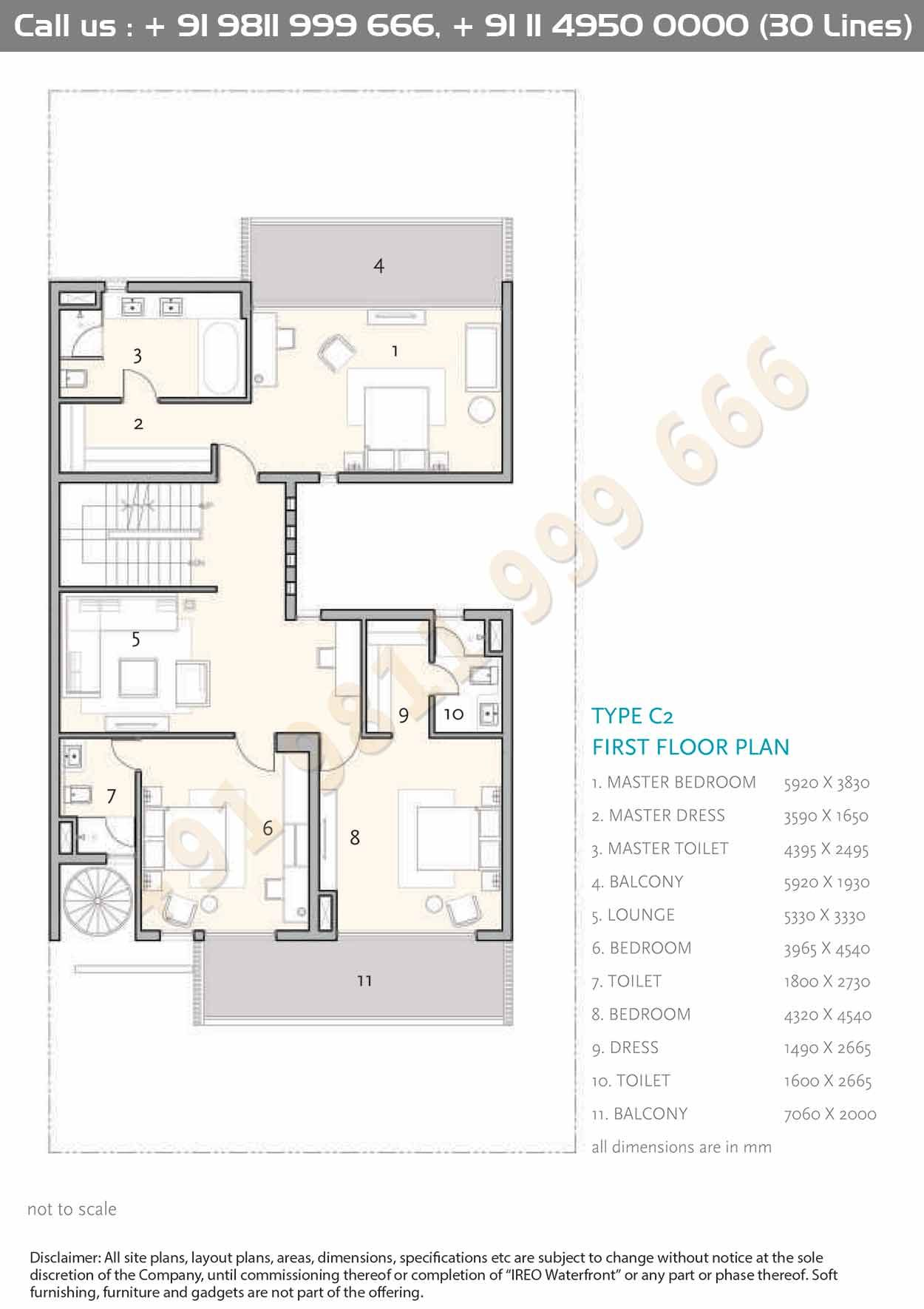 Type C2 First Floor Plan Floor Plans Architectural Floor Plans Courtyard House Plans