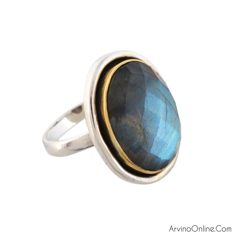 Sterling Silver Ladies Ring With Labradorite Gemstone