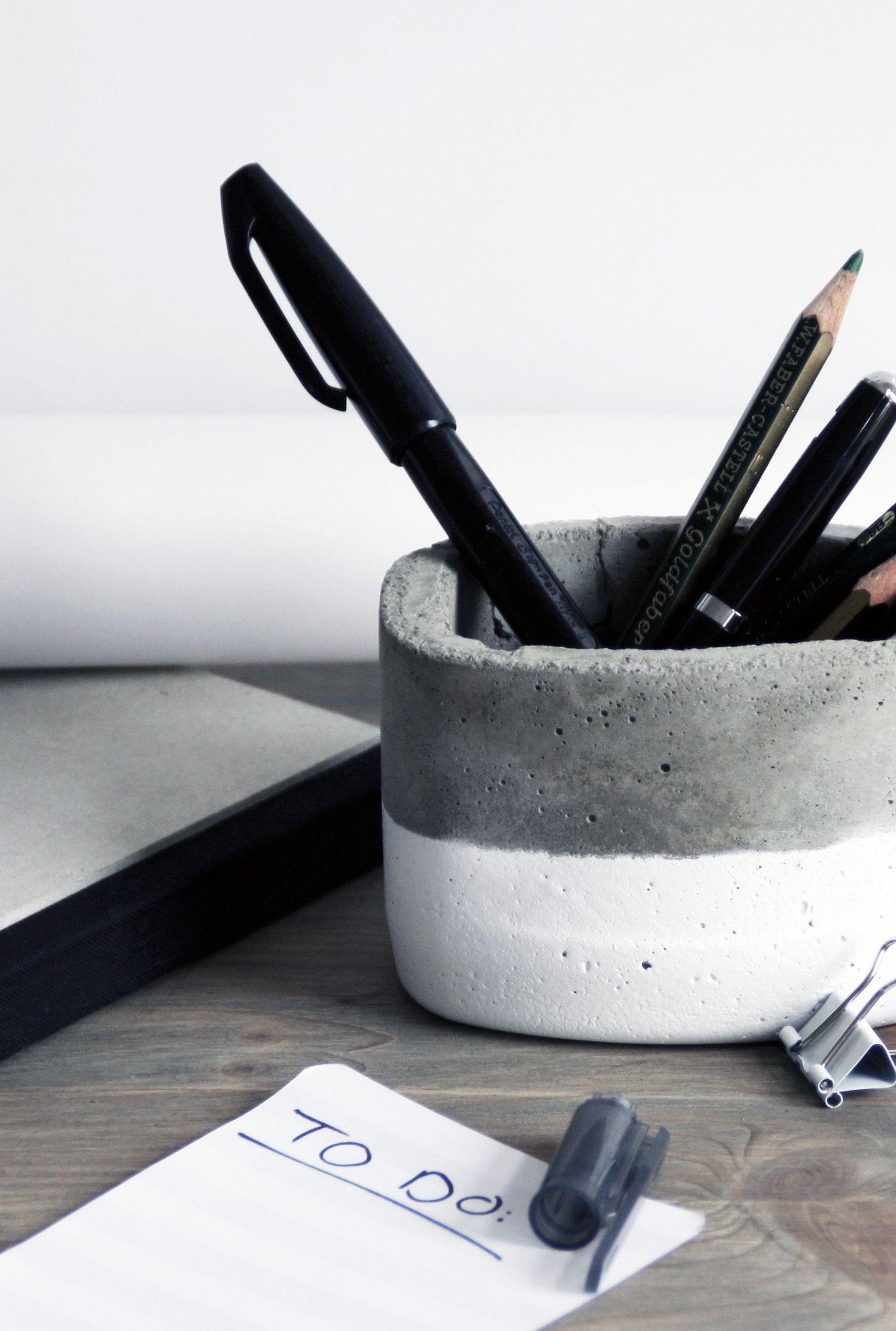 beton stiftebox basteln f r den froschblog get crafty pinterest stiftehalter beton gie en. Black Bedroom Furniture Sets. Home Design Ideas