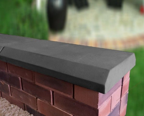 Chamfered Flat Coping With Images Coping Stone Concrete Wall Garden Wall