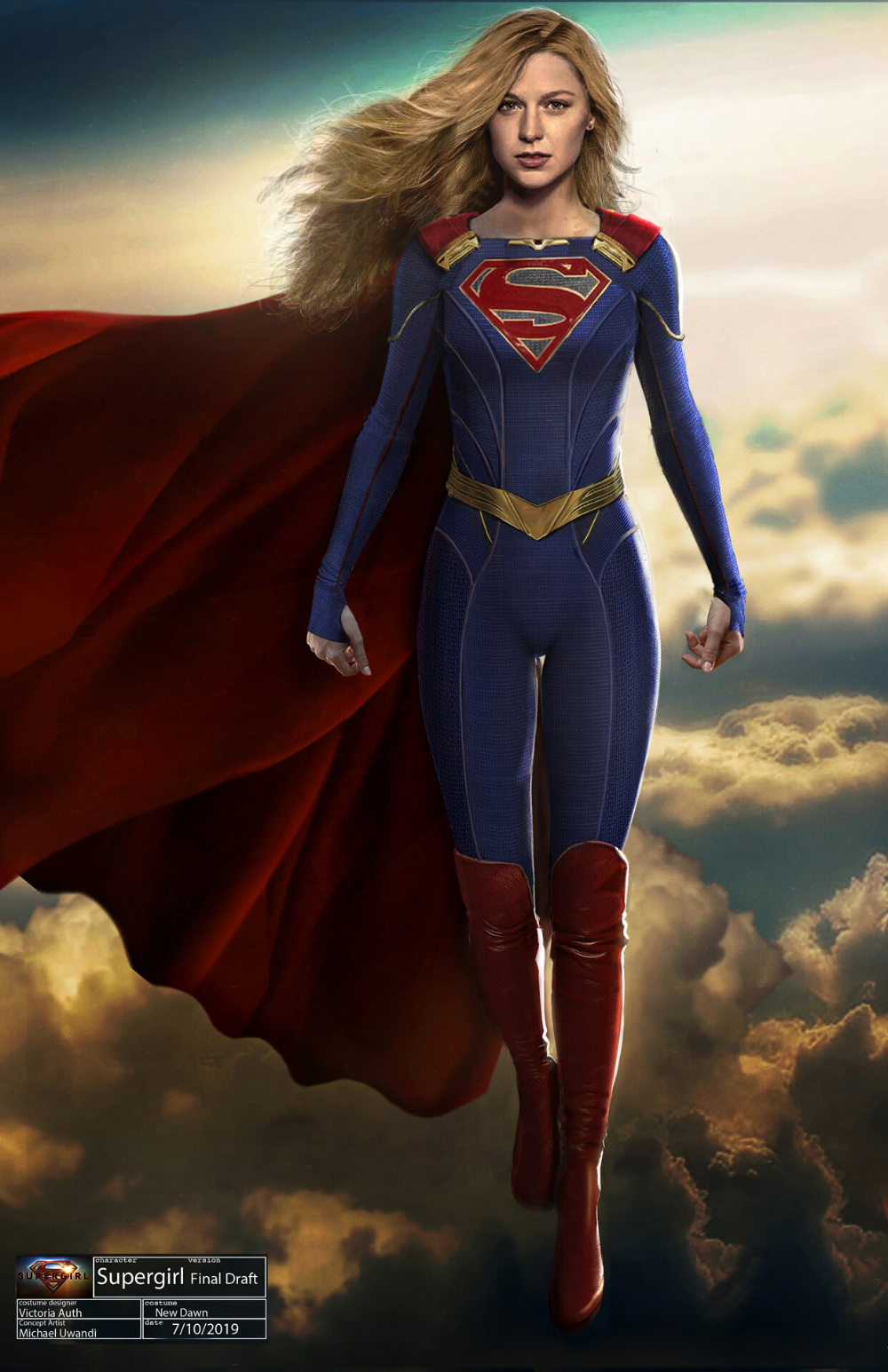 Artstation Supergirl Redesign Michael Uwandi Melissa Supergirl Supergirl Superman Supergirl Comic