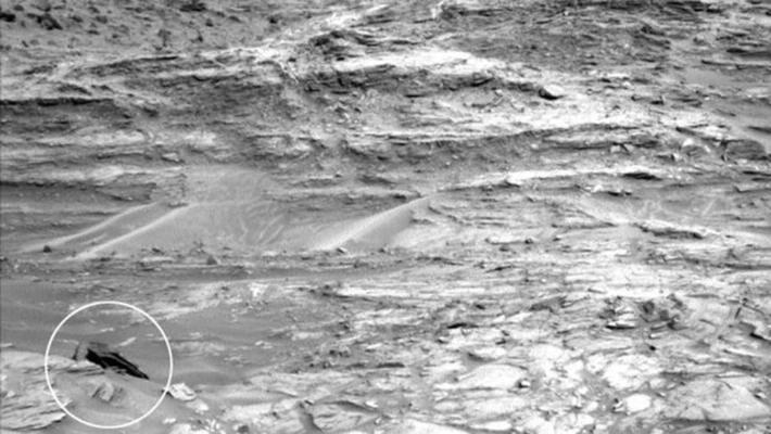 Un misterioso objeto es captado por la cámara del Curiosity Rover. Foto: Cortesía